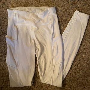 White lululemon speed up leggings